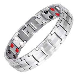 $enCountryForm.capitalKeyWord UK - Explosion models men's and women's punk double row magnetic therapy bracelet casual party clothing accessories hand strap