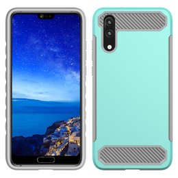 $enCountryForm.capitalKeyWord Australia - Carbon Fiber Dual Layer Hybrid Case for Huawei Mate 10 P10 P20 Pro P8 Lite 2017 Hard Protective Shockproof Cover