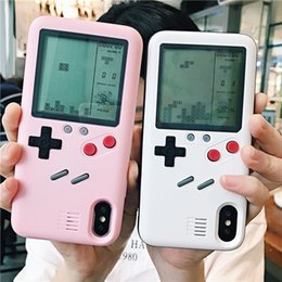 Wholesale Mobile phone case for iPhone X Tetris game nostalgic retro type game shell for iphone S P P Plus decompression shell