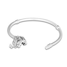 $enCountryForm.capitalKeyWord UK - 925 Sterling Silver Moments Pandora Bracelet Decorative Butterfly Clasp Snake Chain Bangle Fit Bead Charm Diy Europe Jewelry 15cm