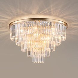 cool ceiling lights for home NZ - Manggic Modern Vintage Ceiling light Crystal Flush Ceiling Mounted Light Bedroom lights for Home Hotel Decoration