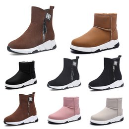 styles winter boot Canada - Non-Brand winter women boots Triple Black Red Beige Brown Suede snow ankle boots Keep Warm 35-40 Style 14 Retail
