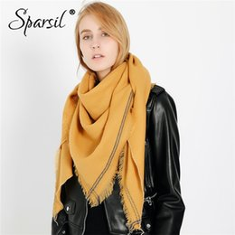 Solid Cotton Shawl Australia - Sparsil New Women Spring Short Tassel Cotton Scarf Solid Color Fashion Viscose Long Wrap Summer 2019 Blanket Shawl For Ladies