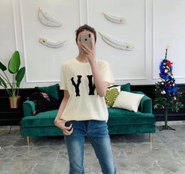 4d97066e6 Wholesale Womens T Shirts Fashion NY letter Print Summer Slim Fit Short  Sleeve T Shirt New women Cotton Brand-Clothing Casual Lady T-Shirt