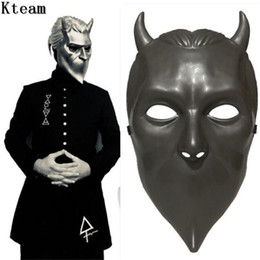 Ghosts Face Mask Australia - 2019 New Hot Ghost BC Rock Roll Band Cosplay Mask Nameless Ghoul Costume Props Helmet Adult Ghost B.C. Face Mask Fancy Dress up Cosplay