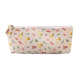 $enCountryForm.capitalKeyWord Australia - Durable and Waterproof Pencil Bag in Plush School Make Up Bag Zipper Gift Stationery Pencil case of PU material ( Yell