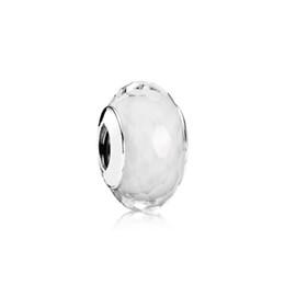 $enCountryForm.capitalKeyWord UK - NEW 100% Sterling Silver 1:1 Glamour 791070 White Faceted Charm Glass Bead Original Women Wedding Fashion Jewelry 2018