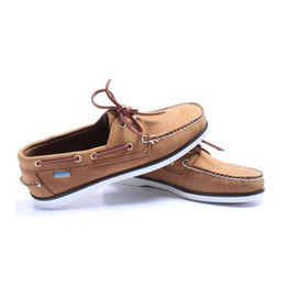 Handmade suede sHoes online shopping - 2019 fashion men suede top sider loafers boat shoes mens blue suede boat handmade loafers leather shoes casual shoes big size
