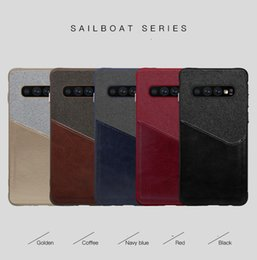 Wholesale Card Slot PU Leather Cell Phone Cases For Samsung Galaxy S10 Plus Xiaomi Mi Huawei P30 Pro Iphone XS Canvas Design Case