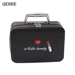 Professional Makeup Artist Cosmetic Bag Australia - Fashion Girl Cosmetic Makeup Case Large Capacity Professional Makeup Artist Suitcase Woman Organizer Beauty Bags Gift Essential Y19052501