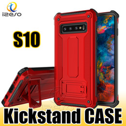 Huawei 4.7 online shopping - Hybrid Armor Kickstand Phone Case for Galaxy S10E S10 Plus Note9 iPhone XS MAX XR X Huawei Mate20 LG Stylo MOTO E5