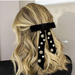 lady bow hair clips Australia - Beautiful fashion ladies hair clip accessories exquisite crystal rhinestone flannel hairpin rose bow headdress hair clip 855