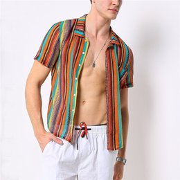 Colorful Mens Casual Shirts Australia - Fashion Digital Printing Mens Shirts Sleeve Polyester Mens Holiday Casual Shirts Colorful Mens Clothing