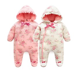 $enCountryForm.capitalKeyWord Australia - Winter Newborn Baby Girl Rompers Thicken Warm Cotton Jumpsuit Hooded Clothing Floral Princess Christmas Girls Onesie MX190801