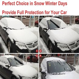 Snow Blocks Australia - New 1PC High Quality Car Snow Ice Protector Visor Sun Shade Fornt Rear Windshield Cover Block Shields Dropshipping