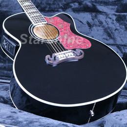 $enCountryForm.capitalKeyWord UK - JEAB6103 High Quality Electric Acoustic Guitar Cutway J200P Black Finish Fishman EQ Bone