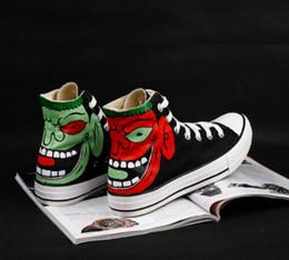 $enCountryForm.capitalKeyWord Australia - 2019 new fashion high quality venom hand-painted casual shoes anime painted small monster high-top skateboard shoes denim flat shoes