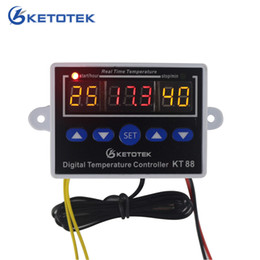 thermostat controller Canada - KETOTEK KT88 Temperature Controller Thermostat Digital Thermostat Regulator Temperature Control for incubator 10A 220V