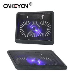 usb laptop cooling UK - 14 inches or less laptop Cooling Pad Laptop Cooler USB Hub with Big Cooling Fans Light Notebook Stand and Quiet Fixture