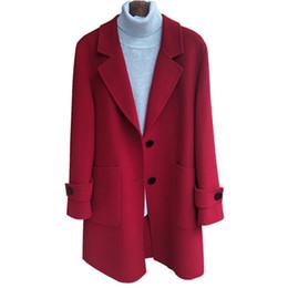 382c40f24b0 New Hot Sale Woman Wool Coat High Quality Winter Jacket Women Slim Woolen  Long Cashmere Coats Cardigan Jackets Plus size 6XL 396