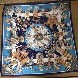 $enCountryForm.capitalKeyWord NZ - Newest Brand luxury silk Square scarf womens brand floral shawl scarf size 135x135cm fashion H long scarves gift for women wholesale FF002