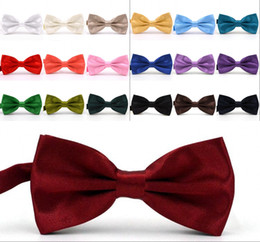 Bowties For Women Australia - Solid Colors Bow Ties For Weddings Fashion Man And Women Neckties Mens Bow Ties Leisure Neckwear Bowties Adult Wedding Bow Tie