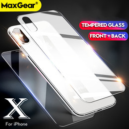 iphone glass screen protector front back Australia - For iPhone Front Back 2Pcs Tempered Glass For iPhone 11 pro max 8 Plus XR Rear Screen Protector For iPhone XS Max 7 plus Protective Film