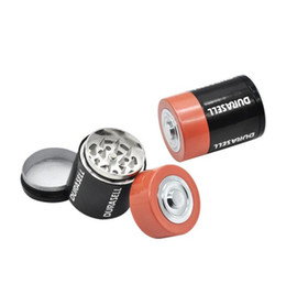 molding types Australia - Manufacturer's Direct Sale Creative Battery Molding Metal Smoke Grinder with 3 Layers of Manual Aluminum Alloy Smoke Crusher