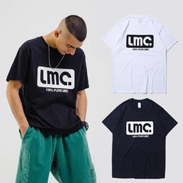 c9a828b3 Black White LMCT-shirts 2019 Men Summer LMC.100% Pure Logo Print T-shirt  Loose Cotton Oversize LMC. Tee Couple Korea Spring
