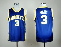 eagles basketball jersey 2020 - Mens NCAA Marquette Golden Eagles 3 Wade Jersey All Stitched Dwyane College Wade Basketball Jerseys Fast Shipping S-XXXL