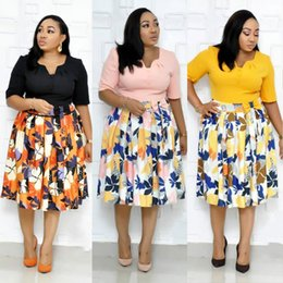 $enCountryForm.capitalKeyWord Australia - LX001 ladies wear new floral party summer official yellow sexy fashion style african mother women printing plus size dress L-3XL