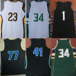 New mens basketball jerseys for men 77 34 41 23 1 white green blue yellow  jersey cheap sale e6fa9170b