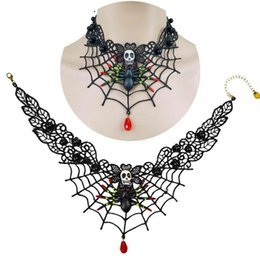 steampunk vintage necklace UK - New Collares Sexy Gothic Chokers Crystal Black Lace Neck Choker Necklace Vintage Victorian Women Chocker Steampunk Jewelry