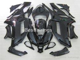 $enCountryForm.capitalKeyWord Australia - Free customize plastic fairing kit for Kawasaki Ninja 636 ZX6R 2007 2008 glossy black bodywork fairings set ZX6R 07 08 MT27