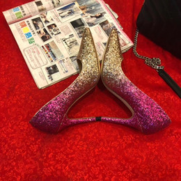 $enCountryForm.capitalKeyWord NZ - Casual Designer Sexy lady fashion Brand Women Fashion pink gold glitter strass point toe high heels bride wedding shoes Women Shoes party