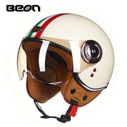$enCountryForm.capitalKeyWord Australia - ECE Classic flag BEON B-110B motocross half face Helmet, motorcycle MOTO electric bicycle safety headpiece
