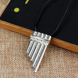 $enCountryForm.capitalKeyWord Australia - Silver Plated Alloy Peter and Wendy Peter Pan Magic flute necklace Statement children Panpipes Necklace Row of flute Pendant Necklace