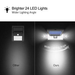 $enCountryForm.capitalKeyWord NZ - IP65 Waterproof 24 LED Solar Lights Outdoor, 3 Optional Modes Wireless Motion Sensor Light for Front Door, Yard, Garage, Deck, Porch