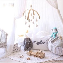 BaBy chime rattles online shopping - Baby Rattles Mobile Wooden Beads Wind Chimes Bell Toys For Kids Room Bed Hanging Decor Tent Decor Photography Props Gifts