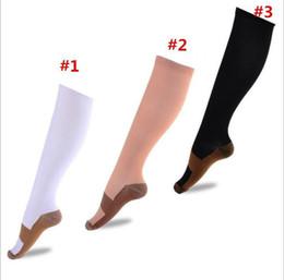 Wholesale Copper Compression Socks Anti Fatigue Compression Stockings Socks Unisex Pain relief Sports Running Magic Stretch Compression Socks
