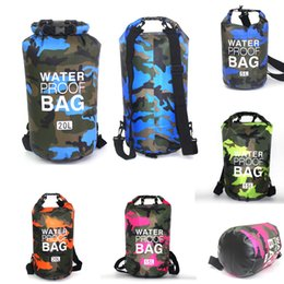 folding art table Australia - Sports Waterproof Bag Backpack Fashion Camping Dry Bag Outdoor Camouflage Swimming Clothes Storage Bag For Drifting Folding Dry Sack M240Y