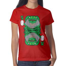 $enCountryForm.capitalKeyWord Australia - Spirited Away Anime Womans Tops Casual Outdoor Graphic T Shirt Printing Round Neck Shirts Super Woman T Shirt