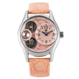 Chinese  Delicate Diamonds Encrusted Arabic Numerals Dial Watch Premium Leather Band Wristwatch for Women Charming Automatic Mechanical Watch manufacturers