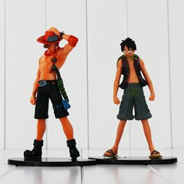 one piece toys action figures 2019 - anime pvc 2pcs lot One Piece Anime PVC Toys Monkey D Luffy Portgas D Ace Action Figure Toys Collectible Model Dolls For