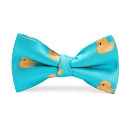 Blue Bowties Australia - Hi-Tie 2019 Hot Sale Cute Kids Bow Tie Children Candy Duck Pattern Necktie Fashion Baby Boy Girl Wedding Dress Accessories Bowties LH-060
