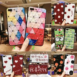 Plastic Red Heart Australia - Fashion Printing Frog Diamond Heart Dot Case for iPhone 6 6s 7 8 Plus X XS XR XS MAX Protective Case Back Cover