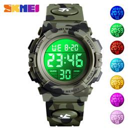$enCountryForm.capitalKeyWord Australia - Children's Watch 5Bar Waterproof Sport Colorful LED Digital Wristwatch Camouflage Kids Watches Boy Girl SKMEI 2019