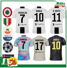 e0268415924 18 19 Juventus RONALDO DYBALA PJANIC COSTA soccer jersey 2018 2019 Italy  juve MANDZUKIC BUFFON home away man woman sports football shirt kit