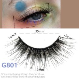 Handmade False Eyelashes Natural Long NZ - 5pairs set False EyeLashes 5 Pairs 3D Natural Long Fake Eyelashes G801 Handmade Makeup Tools Accessories
