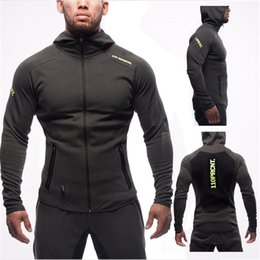 mens sports suits UK - Cool Gyms Sporting Suit Mens Hoodie Zipper Cardigan Pants Suits Tracksuit Two Piece Set Men Clothing Sets Pants +Hoodie `Suit